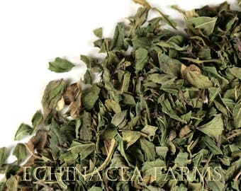 DRIED PEPPERMINT LEAF - 1 oz. Cut and Sifted OrganicTea Herb Wiccan Herb Herbal