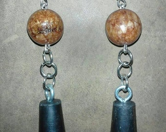 Quartzite and Rubber Stopper Earrings