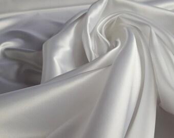 White Satin Fabric - 50 cm piece