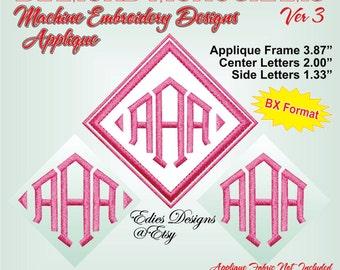 Diamond Monograms Ver 3 Machine Embroidery Font BX Format Monogram Font Embroidery Designs Digital Download