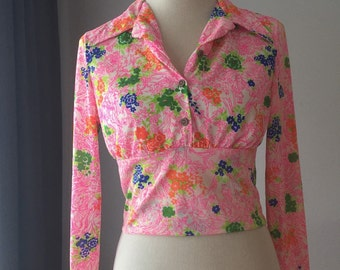 Groovy 60s Crop Top