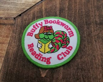 Buffy Bookworm Reading Club Patch