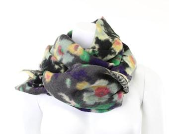 Pure Wool - Monet- Impressionism- Impressionistic- waterlilies- floral- olive green- khaki- ikat- dark gray- graphite- blur