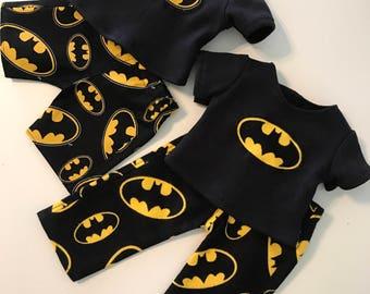 "Super Hero Pajama Pants, Choice of Two Outfits, PJ's, Pajamas to Fit Like American Boy Doll Clothes, 18"" Boy Doll Clothes, 18"" Boy Doll"