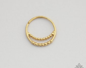 Septum ring, Solid gold septum, Daith earring, Nose piercing,Gold Tragus Earring,Helix Piercing, Tragus Hoop, Helix Ring, Cartilage Piercing