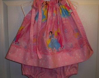 Princesse en haut de taie d'oreiller rose avec bandeau et couche-culotte couvrir 24 mth - destockage 13,99