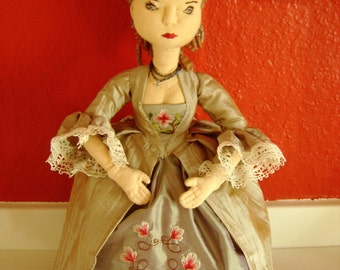 The Empress of Fashion, a soft sculpture,hand made,OOaK doll,