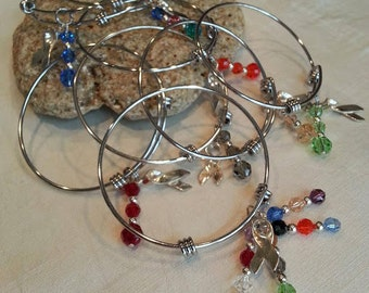 Awareness Bangle Bracelets - Limited Quantities - FREE SHIPPING!