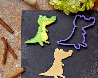 Crocodile Cookie Cutter | Alligator Fondant Cutter | Animal Cookie Cutters