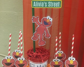 Elmo Party Centerpiece, personalized