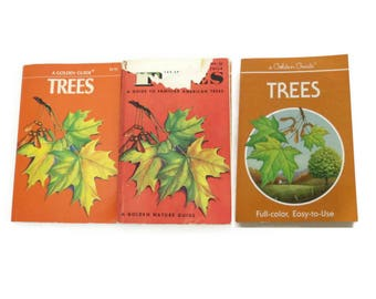 Golden Guide Book Trees Nature Handbook Science Reference Manual Paperback Field Guide