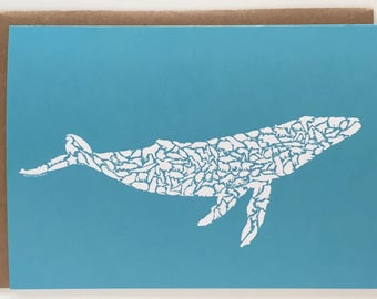 Humpback Whale Arctic Animals Recycled Art Card