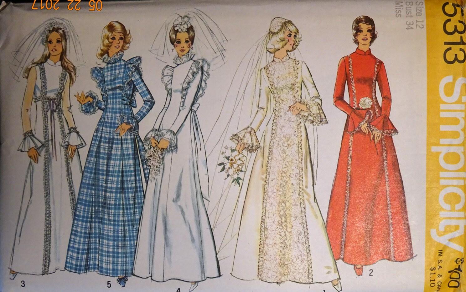 Simplicity 5313 Wedding dress, Bridesmaid dress, maxi dress, prom ...