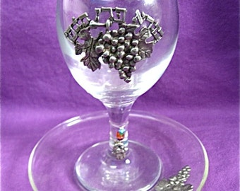 Vintage Glass Kiddush Cup