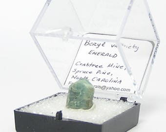 Emerald Crystal Thumbnail Mineral Specimen from North Carolina, from an estate rock and mineral collection, Wear it or Display it