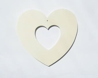 DIY wood openwork heart creative hobbies decoupage