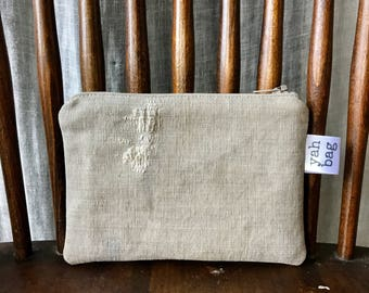 WORN - reconstructed vintage duffle bag extra small pouch