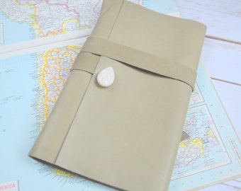 Travel  Journal - Personalized Large Leather Journal - Handmade Bound Book - Diary - Writing Notebook - Sketchbook - Gift for men or women