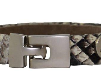 Python Bracelet, Python Cuff, BAJ 496 S Natural