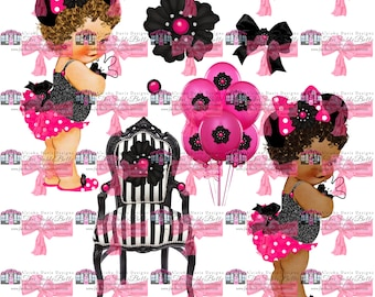 Pretty Minnie Inspired Royal Baby Graphic 7 Piece DIGITAL DOWNLOAD