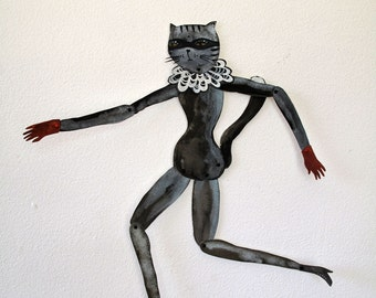 Sourpuss DIY or constructed Paper Doll Articulated / Hinged Beasts Series