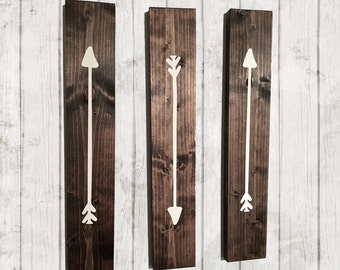 Rustic Arrows, Wooden Arrows, Woodland Nursery, Reclaimed Wood, Rustic Wall  Art, Farmhouse Decor, Set Of 3, Rustic Nursery, Gallery Wall