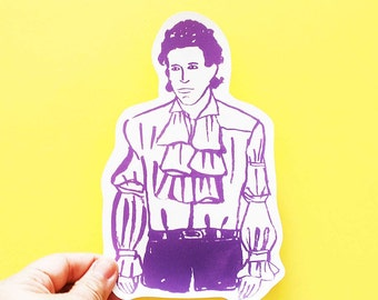 Jerry Seinfeld Big Individual WATERPROOF Sticker - Vinyl Stickers -Hand Drawn Sticker - Handmade Sticker