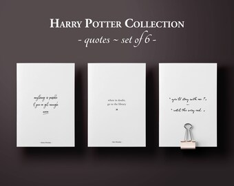 Harry Potter Planner Quotes, A5 Planner Insert, Inspirational Quote, Harry Potter Printable Art, Planner Accessories, Bullet Journal