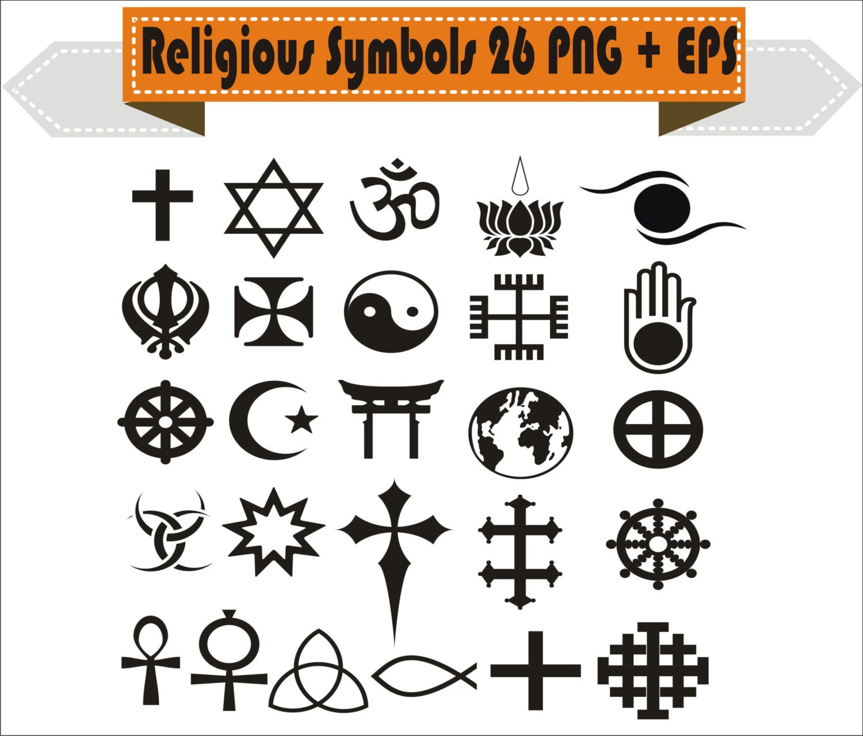 Religious Religion Symbols Christianity Buddhism Islam Hinduism Pack
