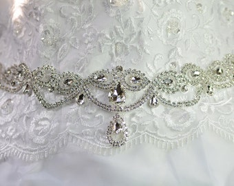 Rhinestone Trim Bridal Sashes Headbands Garters DIY Wedding accessories A547
