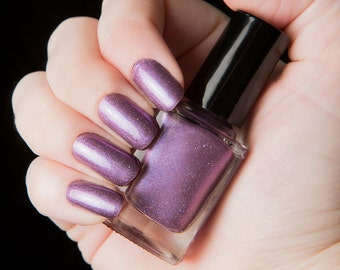 I See Angels - Metallic amethyst with scattered holographic glitter nail polish - Rapture Collection - .45oz/13.2mL