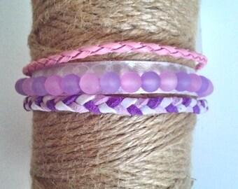 women bracelet, MULTISTRAND bracelet beaded bracelet