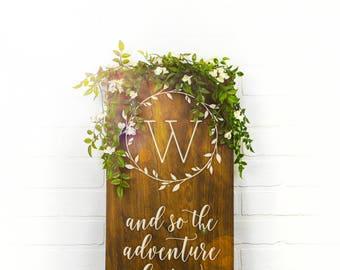 Custom Wedding Signs, Wood Wedding Sign, Couples Name Sign, Wedding Date Sign, Custom Wood Sign, Engagement Gift, Wedding Gift (GP1127-WM)