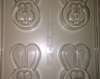 E478 - Chocolate Easter Cookie Mold - Easter Bunnies