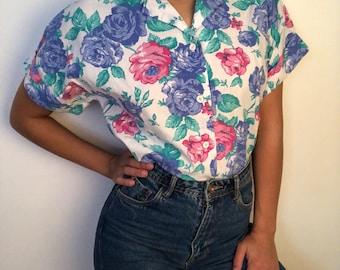Vintage flowers shirt - lined vintage floral