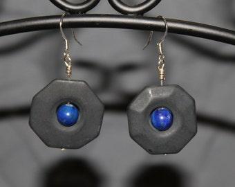 Blackstone and Sodalite Earrings