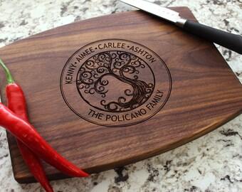 Personalized Cutting Board - Engraved Cutting Board, Custom Cutting Board, Wedding Gift, Housewarming Gift, Anniversary Gift W-025 GB