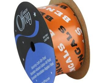 "1-5/16"" NFL Cincinnati Bengals Ribbon, 12 foot spool, Licensed NFL Offray Ribbon"