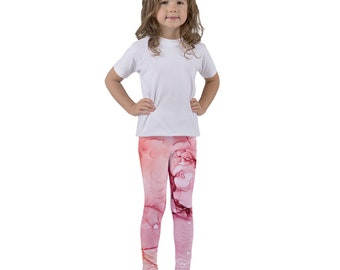 Pink Abstract Art Kid's leggings