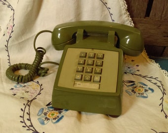 Works Great* Vintage Western Electric Bell Push Button Desktop Phone