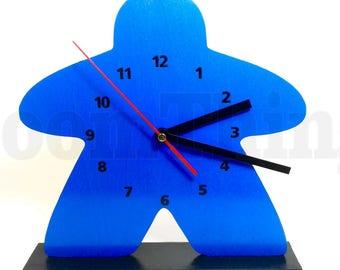 Meeple Clock, Game Room Decor, Game Room Clock, Clock, Meeple
