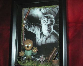 The Wolfman (Inspired By) Classic Display..I Have included a Silver Bullet ...Find It..Use it......Ready to Ship out!!