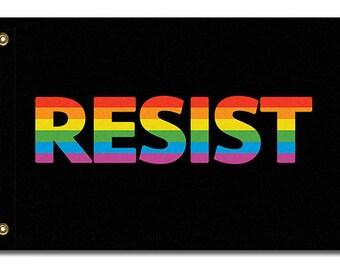 LGBTQ RESIST Flag, 3x2 or 5x3
