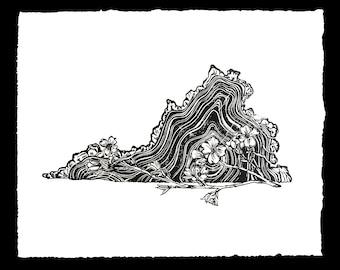 Virginia State Dogwood Print