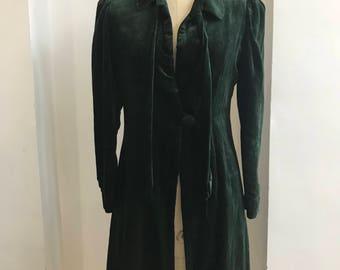 Dark Green 40s velvet jacket