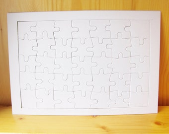 3 DIY Blank Jigsaw Puzzle, kids party gifts & kids craft supplies, wholesale paper craft, wedding guest book, ShineKidsCrafts