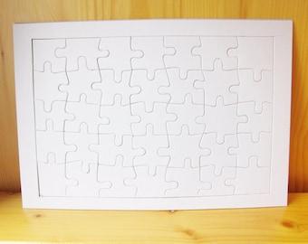 3 DIY Blank Jigsaw Puzzle, craft supply, personalized puzzle, wedding, craft idea, ShineKidsCrafts