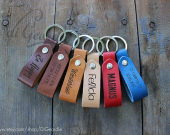 leather keychain custom keychain key chain personalized keychain leather key fob couples keychain leather key holder coordinate keychain