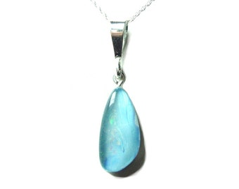 Opal Triplet sterling pendant with chain