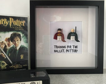 Harry Potter Minifig Shadowbox - Harry Potter and Draco Malfoy